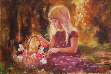 Mickey Mouse Sunshine Girl IS Disney Oil Paintings