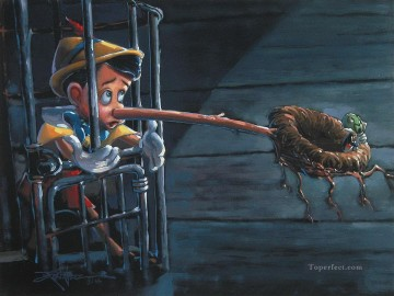 Disney Painting - Pinocchio save a bird cartoon for kids