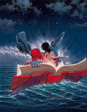 Disney Painting - Sorcery of Mickey cartoon for kids