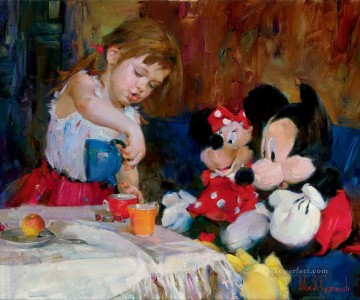 Disney Painting - Teatime with Mickey and Minnie MIG Disney