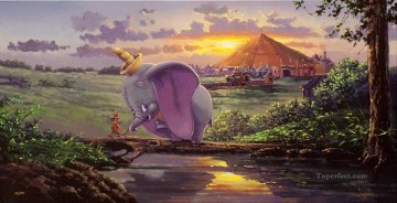 mouse and elephant cartoon for kids Oil Paintings