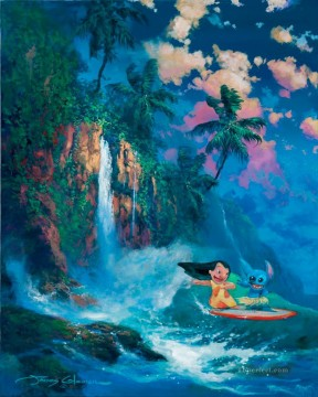 waterfall Painting - under waterfall cartoon for kids
