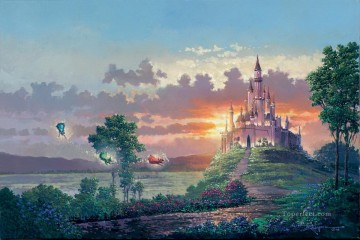 Disney Painting - Blessings for the Princess cartoon for kids