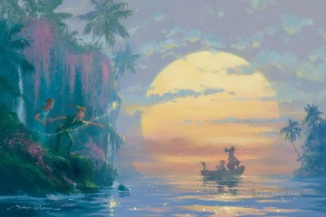 Disney Painting - Hook Discovered Coleman cartoon for kids