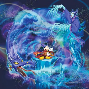 Disney Painting - The Battle Against Evil cartoon for kids