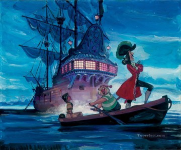 Disney Painting - Tiger Lily And Hook cartoon for kids