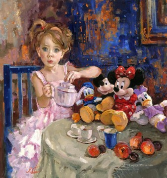 Disney Painting - Would You Like Some Tea IS Disney