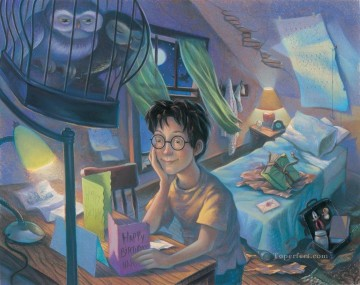 Disney Painting - harry potter and owls cartoon for kids