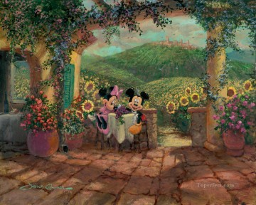 For Kids Painting - mikey and minnie Tuscan Love cartoon for kids