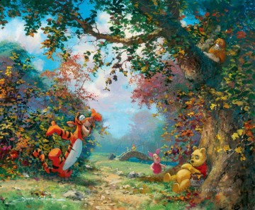 Pooh s Afternoon Nap coleman cartoon for kids Oil Paintings