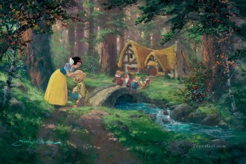 A Sweet Goodbye snow white cartoon for kids Oil Paintings