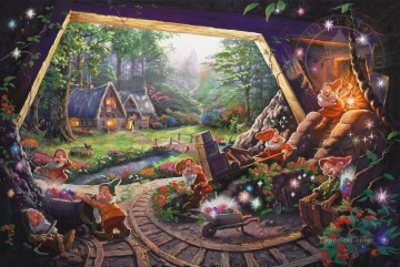Snow White and the Seven Dwarfs Disney Oil Paintings