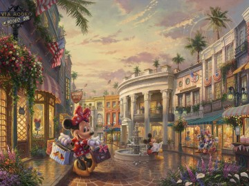 Minnie Rocks the Dots on Rodeo Drive Disney Oil Paintings