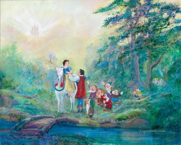 snow white and prince Someday My Prince Will Come cartoon for kids Oil Paintings