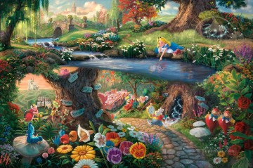 Disney Alice in Wonderland Disney Oil Paintings