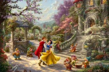 Snow White Dancing in the Sunlight Disney Oil Paintings