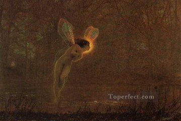Fairy Painting - Iris angel landscape John Atkinson Grimshaw for kid