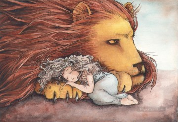 Fairy Painting - daughter of a lion for kid