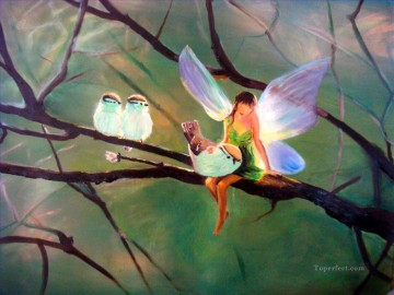Fairy Painting - fairy and birds for kid