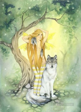 Fairy Painting - fairy and wolf for kid