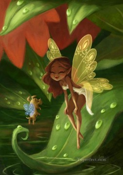 Fairy Painting - fairy puppy for kid