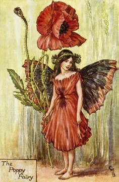 Fairy Painting - poppy fairy for kid