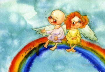 Fairy Painting - vk angels rainbow for kid