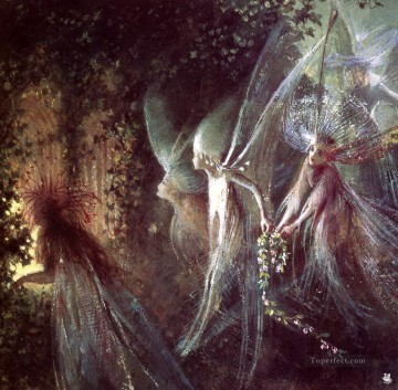 Fairy Painting - John Anster Fitzgerald ma Fitzgerald Faeries Looking Through a Gothic Arch for kid
