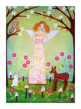Fairy Painting - angel rabbit deer and owl for kid