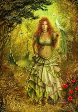 Fairy Painting - autumn fairy for kid