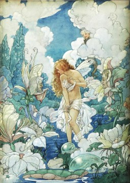 Fairy Painting - bathing fairy for kid