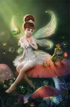 Fairy Painting - fairy and frog for kid