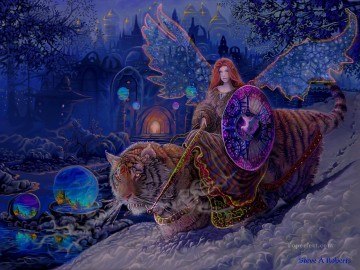 Fairy Painting - fairy riding on tiger for kid