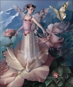 rose roses Painting - rose fairy wings lovely for kid
