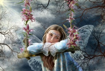 Fairy Painting - sad fairy alena lazareva for kid