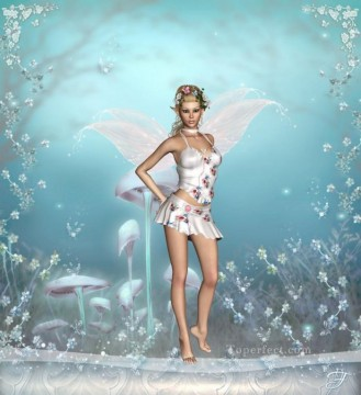 Fairy Painting - silver fairy for kid