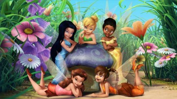 Fairy Painting - Tinker Bell HD wallpaper for kid