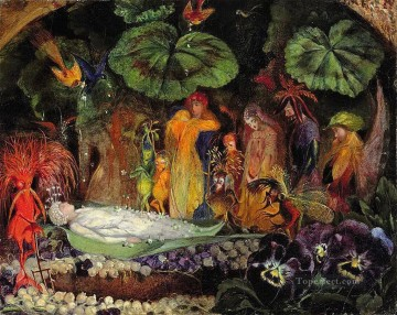 Fairy Painting - john anster fitzgerald death of the fairy queen for kid