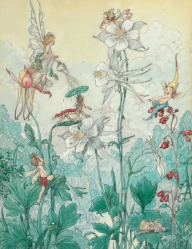 Fairy Painting - little fairies in flowers for kid
