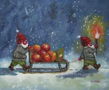 Christmas Painting - XS011 kids Santa Claus Christmas