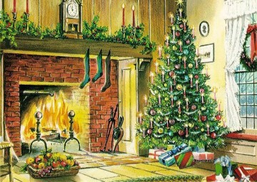 sd037eB modern wholesale Christmas Xmas kids Oil Paintings