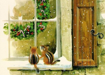 sd038eB modern wholesale Christmas Xmas kids Oil Paintings