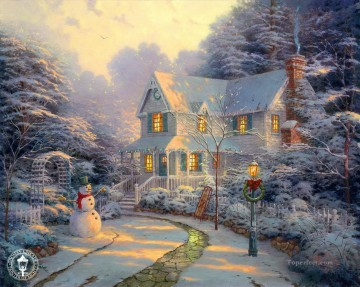 The Night before Christmas Thomas Kinkade kids Oil Paintings