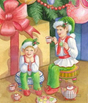 Christmas Painting - XS053 kids Santa Claus Christmas