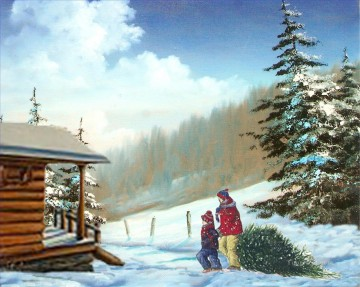 Christmas Painting - XS105 kids Santa Claus Christmas
