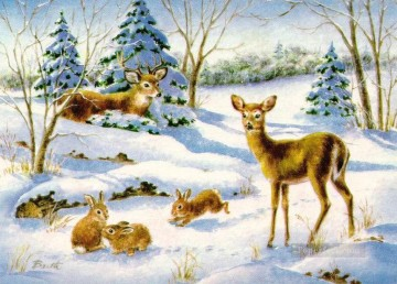 sd034eB modern wholesale Christmas Xmas kids Oil Paintings