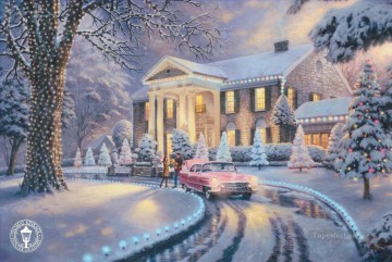 Graceland Christmas Thomas Kinkade kids Oil Paintings