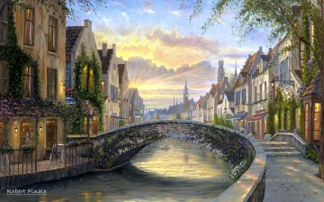 Reflections of Belgium kids Oil Paintings