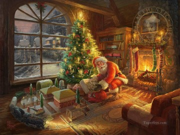 Santa Special Delivery Xmas Oil Paintings