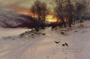 Christmas Painting - When The West With Evening Glows kids